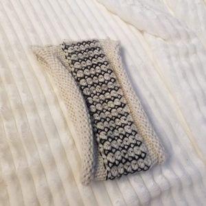 Madden Girl Knit Head Band Ear Warmer Cream & Gray